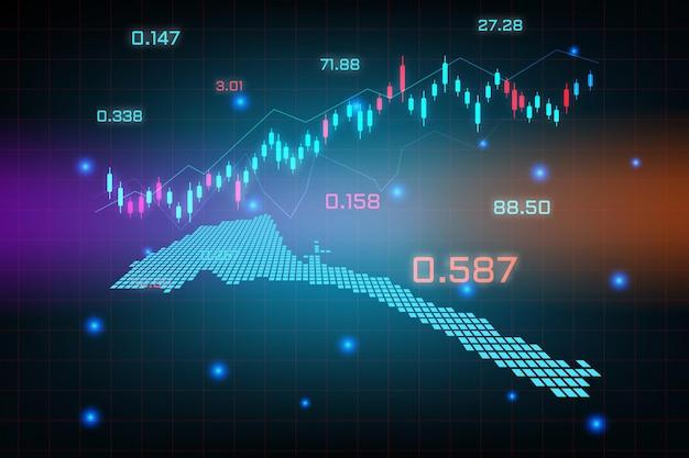 Beursachtergrond of forex trading zakelijke grafiekgrafiek voor financieel investeringsconcept eritrea-kaart.