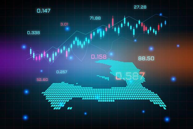 Beursachtergrond of forex trading zakelijke grafiekgrafiek voor financieel investeringsconcept haïti-kaart. bedrijfsidee en technologie-innovatieontwerp.