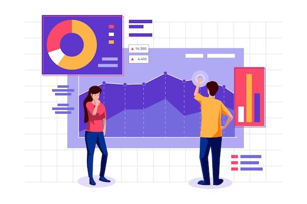 Beursanalyse met grafiek