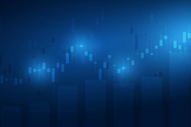 Beursgrafiek of forex handelsgrafiek voor zakelijke en financiële concepten