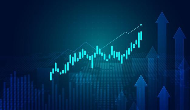 Beursinvesteringen handelsgrafiek in grafisch concept geschikt voor financiële investeringen