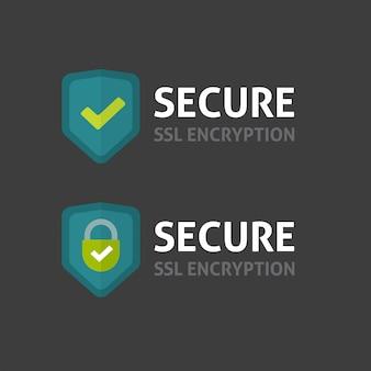 Beveiligd ssl-verbindingslogo