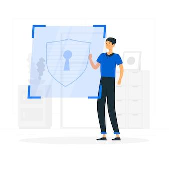 Beveiliging concept illustratie