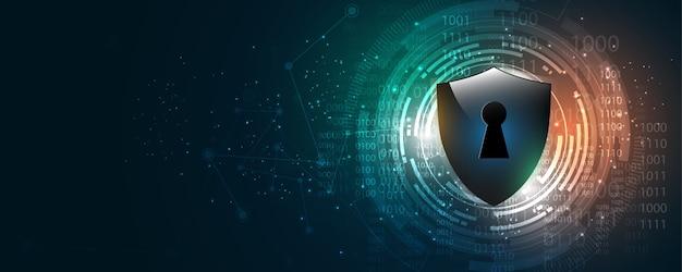 Beveiliging cyber concept abstracte technische achtergrond