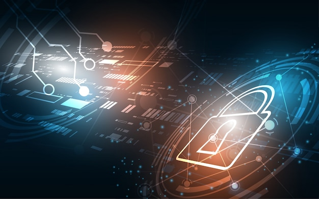 Beveiliging cyber digitaal concept abstracte technologie
