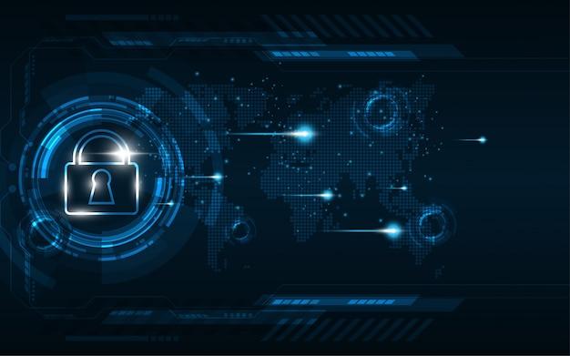 Beveiliging cyber digitaal concept