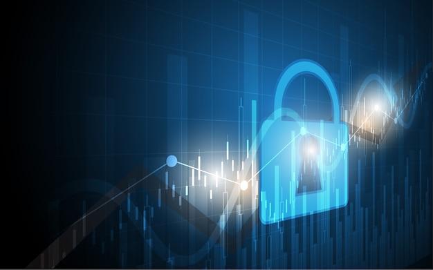 Beveiliging cyber digitale concept technologie achtergrond