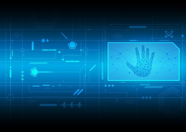 Beveiliging handprint achtergrond