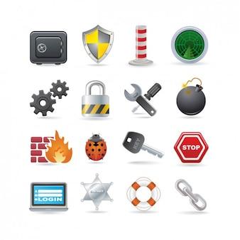 Beveiliging icon set