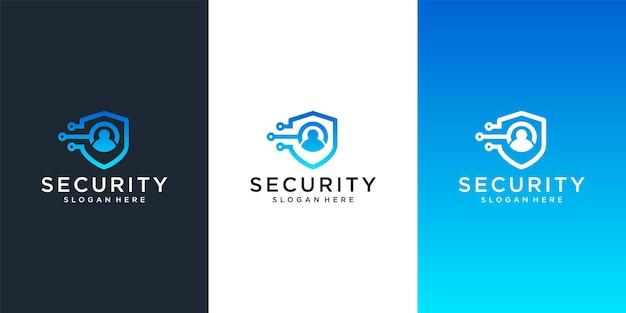 Beveiliging logo ontwerpsjabloon