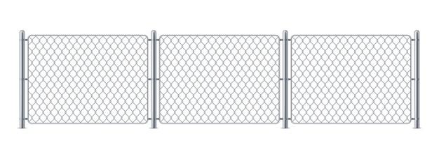 Beveiliging metalen hek of politie stalen kettingschakel