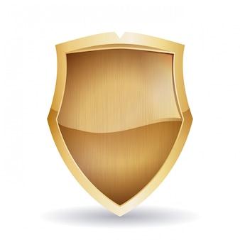 Beveiliging ontwerp, vectorillustratie,
