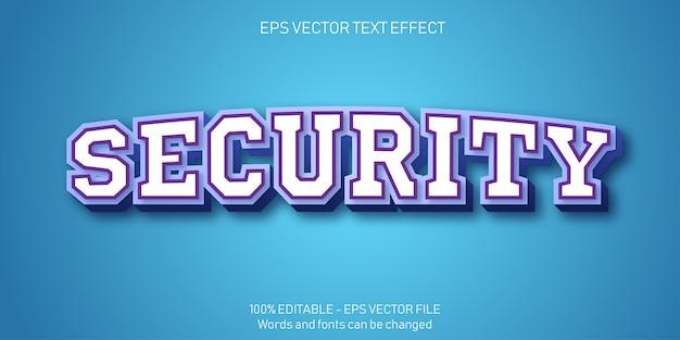 Beveiliging tekst illustratie in plat ontwerp