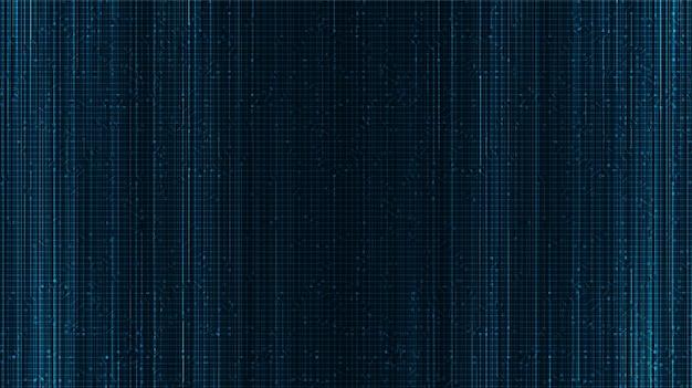 Beveiligingstechnologie achtergrond, digitaal en verbindingsconceptontwerp, vectorillustratie