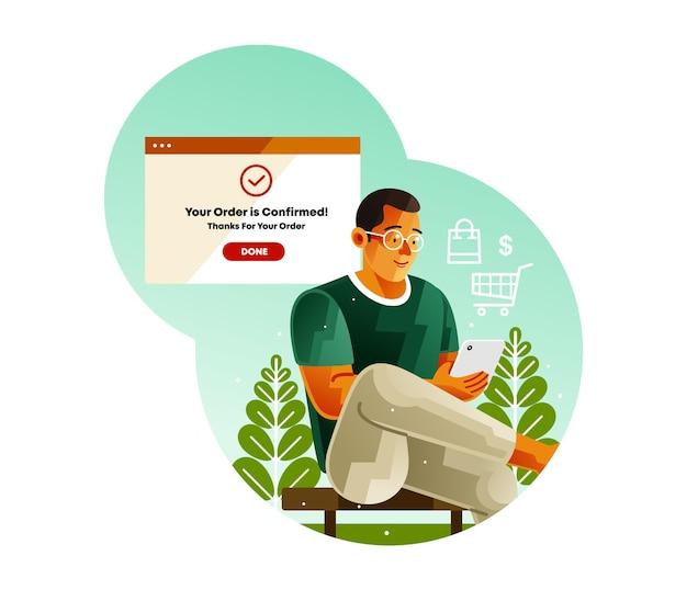 Bevestig de bestelling met mobiele betaling