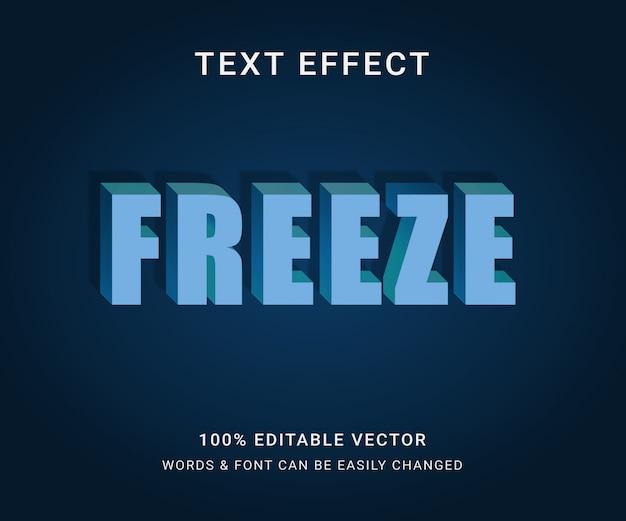 Bevriezen van het volledige bewerkbare teksteffect