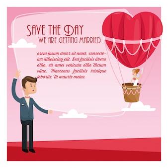 Bewaar de bruiloft datum