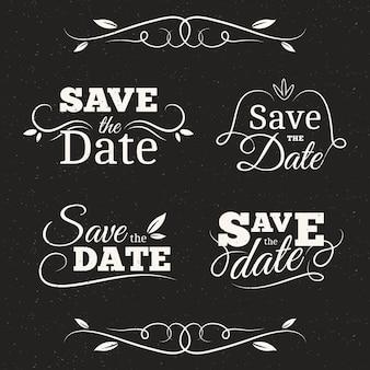 Bewaar de collectie met de datumbelettering