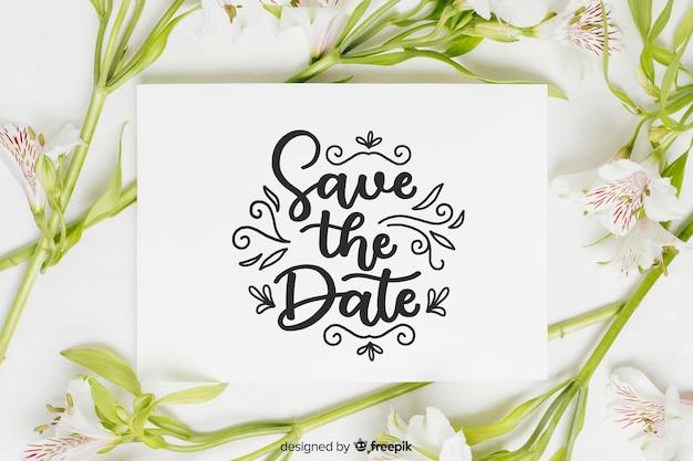 Bewaar de datum belettering met foto