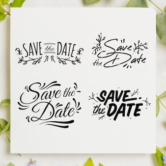 Bewaar de datum belettering set