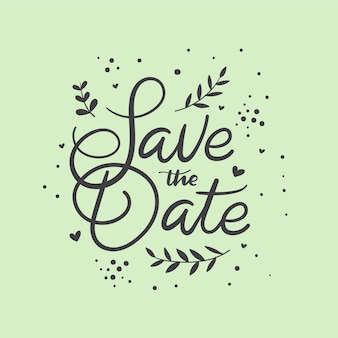 Bewaar de datum belettering stijl