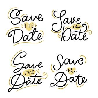 Bewaar de datum belettering