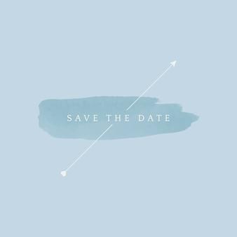 Bewaar de datum bruiloft badge vector