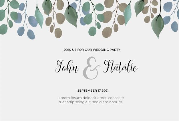 Bewaar de datum bruiloft sjabloon