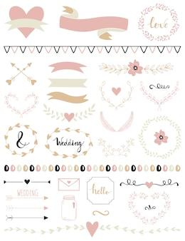 Bewaar de datum bruiloft teken en symbool.
