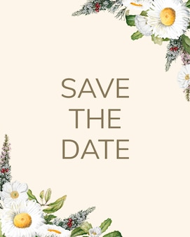 Bewaar de datum bruiloft uitnodiging mockup kaart vector