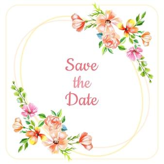 Bewaar de datum florale achtergrond