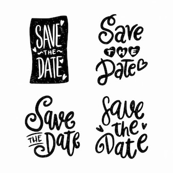 Bewaar de datum kalligrafie set