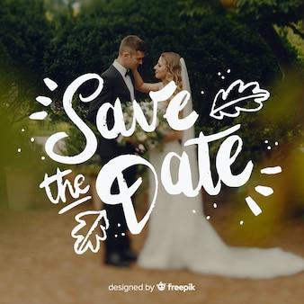 Bewaar de datum letters met foto