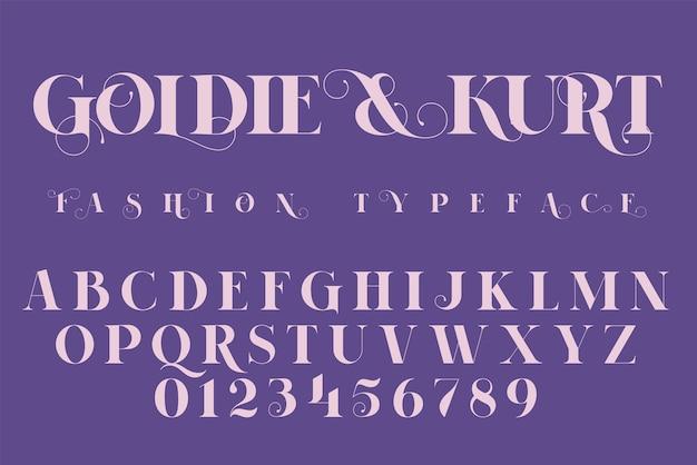 Bewaar de datum, mode en bruiloft uitnodiging lettertype, belettering illustratie.