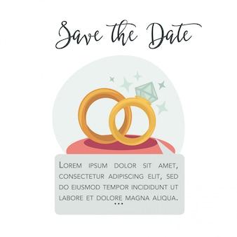 Bewaar de datum vector uitnodiging of wenskaart