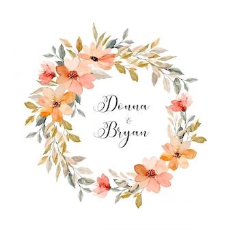 Bewaar de datum. zacht roze aquarel bloemenkrans