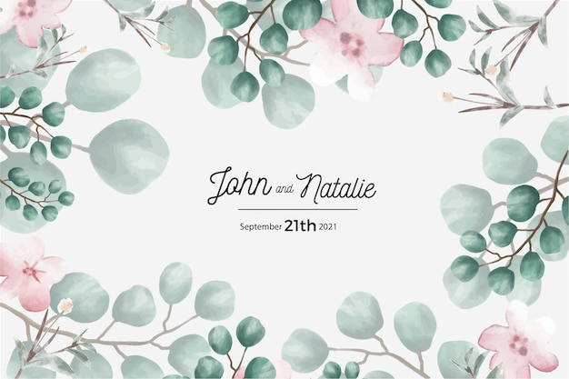 Bewaar de datumkaart, bruiloft uitnodigingskaart