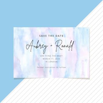 Bewaar de datumkaart met abstracte aquarel