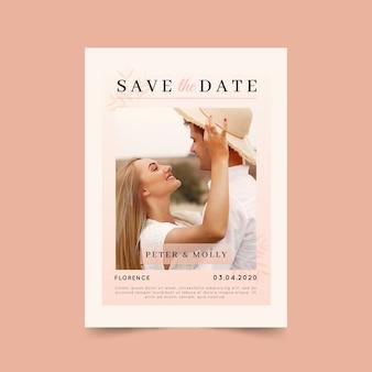 Bewaar de datumkaart met foto