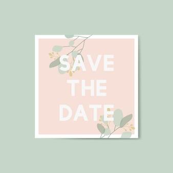 Bewaar de datumkaart