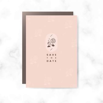 Bewaar de datumkaartvector