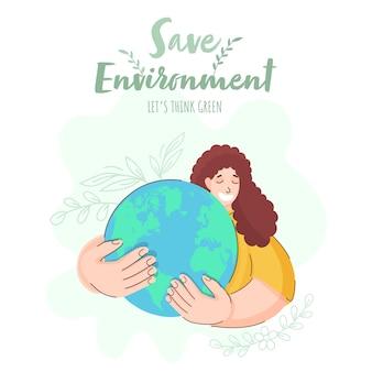 Bewaar de illustratie van het milieuconcept