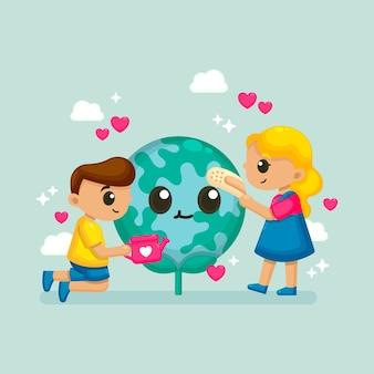 Bewaar de planeet illustratie
