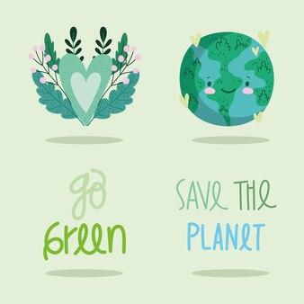 Bewaar de planeetpictogrammen