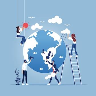 Bewaar het concept planeet-milieubescherming en ecologie