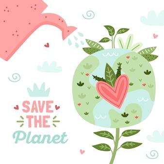Bewaar het concept van de planeet