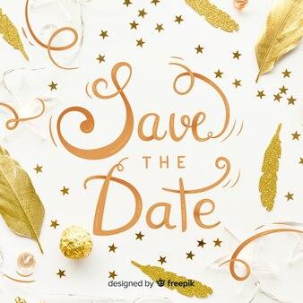 Bewaar het datumletterschrift