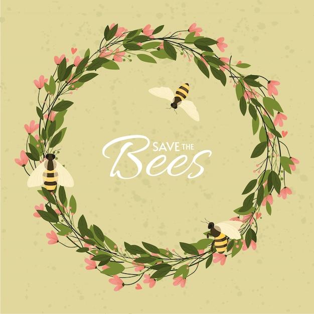 Bewaar het ontwerp van de bijen