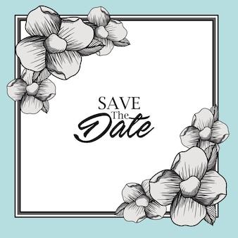 Bewaar het ontwerp van de datumkaart