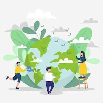 Bewaar het planeetthema